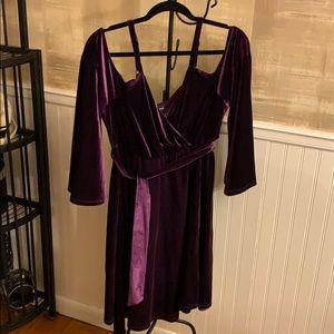 Torrid size 2 velvet dress